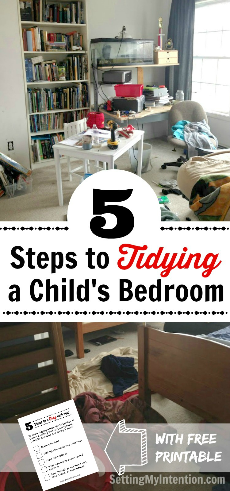 5 Steps to Tidying Childrens Bedrooms