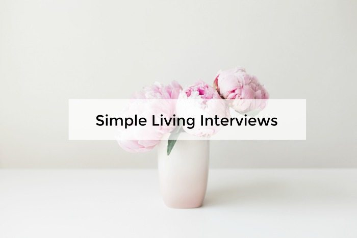 simple living interviews with minimalist bloggers
