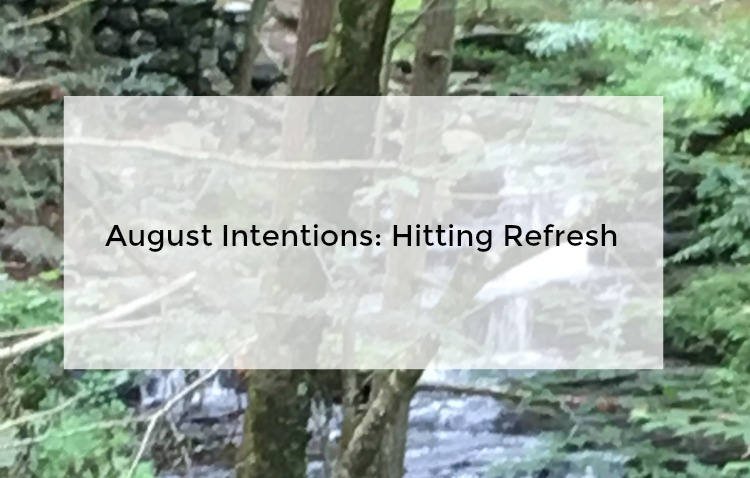 Goals and intentions for August