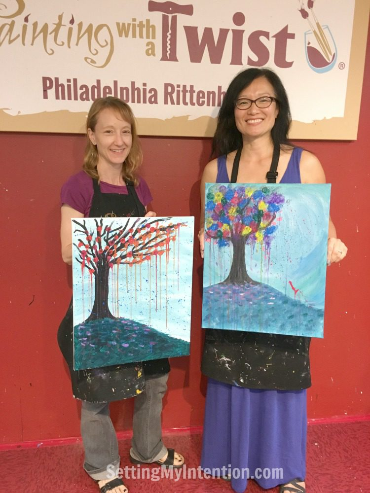 A Girls' Night Out at Painting with a twist