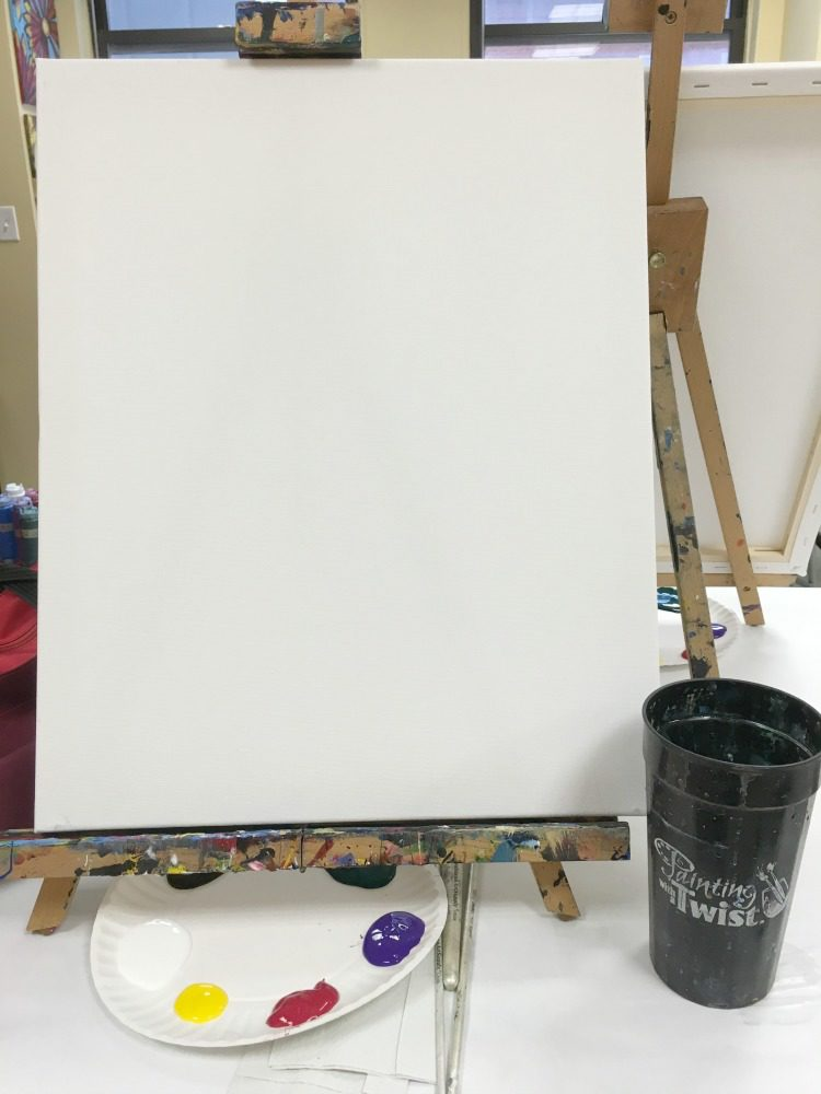 A fun girls' night out painting with a twist