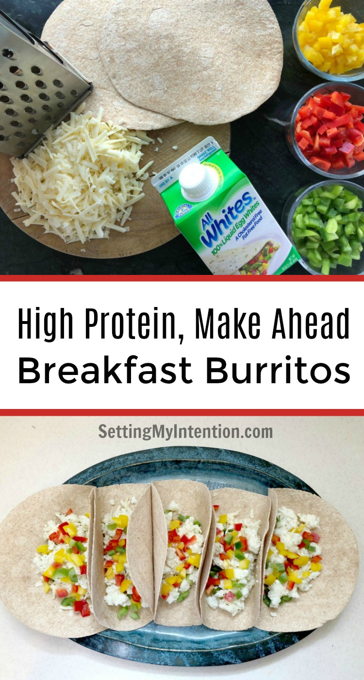 High protein breakfast burritos with egg whites