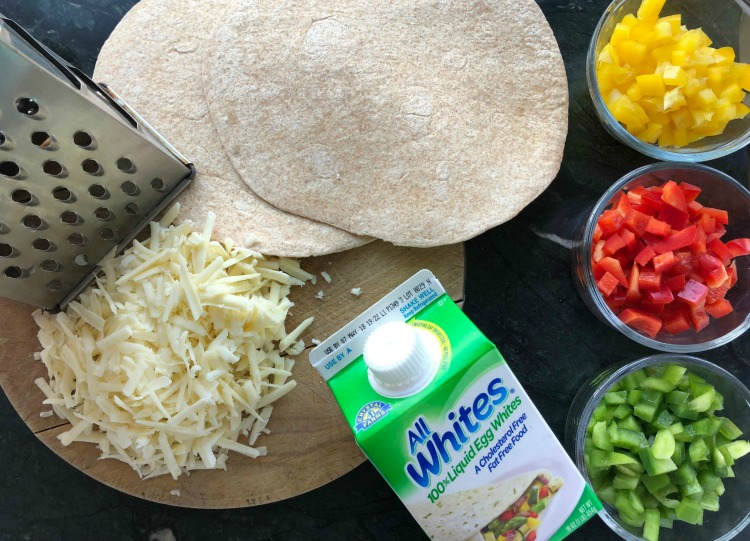 High protein breakfast burrito with egg whites